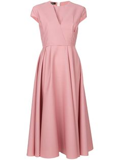 Uncover designer cocktail dresses at Farfetch. Find a mix of luxurious designs from the world's greatest labels & the best new designers around. Evening Gowns With Sleeves, Pink Evening Dress, Evening Dresses, Dressy Dresses, Day Dresses, Short Dresses, Full Skirt Dress, Skirt Pleated, Full Skirts