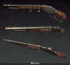 Deadfall Adventures - Lowpoly Weapons, Michał Kubas on ArtStation at https://www.artstation.com/artwork/deadfall-adventures-lowpoly-weapons