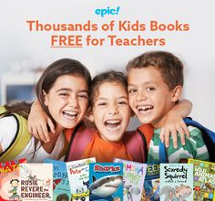 Epic for Educators is 100% FREE for elementary school teachers and librarians. Sign up with your educator email and gain instant, unlimited access to 25,000 high-quality fiction and non-fiction books (now including Spanish, French and Chinese), read-along books, educational videos and more.