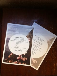 Brenda Briand's simply beautiful wedding invitations