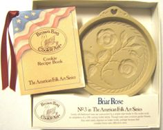 Brown Bag Cookie Art CERAMIC MOLD Briar Rose #3 American Folk Art NEW IN BOX VTG