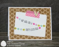 cute and simple and colorful Christmas Card! | Fresh Squeezed Stamps