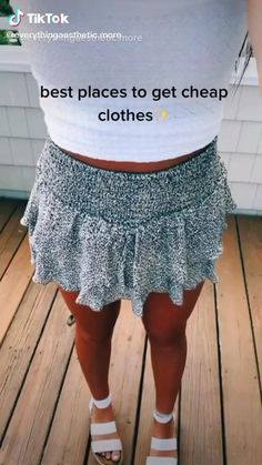 Trendy Summer Outfits, Cute Comfy Outfits, Girly Outfits, Simple Outfits, Pretty Outfits, Stylish Outfits, Skirt Outfits, Summer Clothes, Cute Clothing Stores
