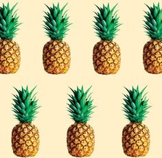 PINEAPPLE: A tropical American plant (Ananas comosus) having large swordlike leaves and a large, fleshy, edible, multiple fruit with a terminal tuft of leaves. Pineapple Pattern, Tropical Pattern, Pineapple Print, Cute Pineapple, Pineapple Design, Fini Candy, Textures Patterns, Print Patterns, Art Tropical