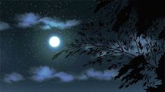 gif Black and White sky landscape moon scenery star cloud anime . Anime Moon, Sky Anime, Anime Gifs, Anime Stars, Gif Animé, Animated Gif, The Garden Of Words, Foto Gif, Les Gifs