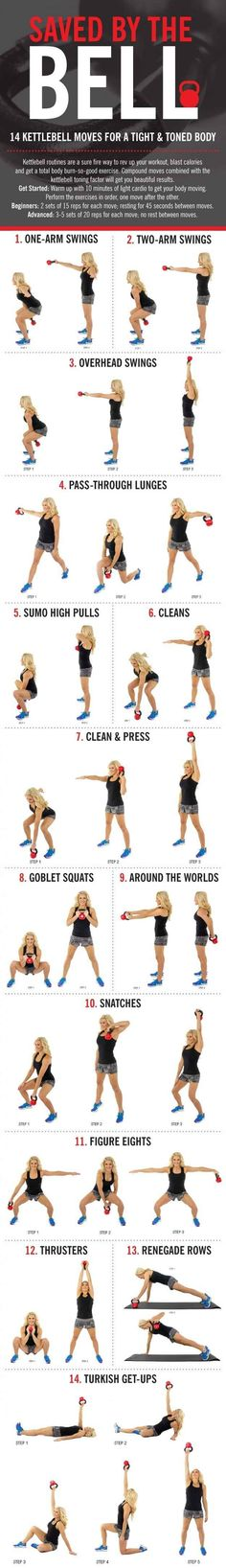 Or how to work your whole body with just one kettlebell: