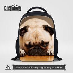 1efb0c01e6 Dispalang 12 Inch School Backpack Kids Baby Bag Cute Animal Dog Print  Children Small Backpacks Kindergarten