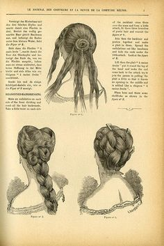 Before Pintrest, articles like this from 1882 would teach the latest hairstyles. I think I'd need a few more steps! Me too!