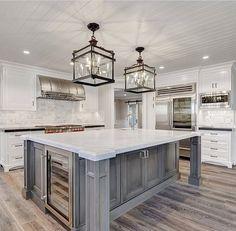 Home Decor Kitchen .Home Decor Kitchen Kitchen Tops, Kitchen Redo, Home Decor Kitchen, Interior Design Kitchen, New Kitchen, Home Kitchens, Kitchen Ideas, Kitchen Designs, Grey Kitchen Island
