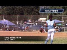 Emily Burrow: Stealing 3rd Base Vs Lady Bolts. Fast Pitch Travel Softbal...