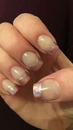 Are you looking for gold silver white bling glitter wedding nails? See our collection full of gold silver white bling glitter wedding nails and get inspired! French Manicure Gel Nails, Sns Nails, French Tip Nails, Nail Polish, Manicures, Nail Nail, Bright Red Nails, Purple Nails, Glitter French Tips