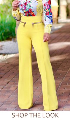 If your closet doesn't have a great pair of flattering wide leg pants in it, you're missing out. We think our high waist pair with hip zipper detail are ideal! Simply Fashion, Look Fashion, Plus Size Fashion, Girl Fashion, Womens Fashion, Classy Outfits, Stylish Outfits, Cute Outfits, Fashion Pants