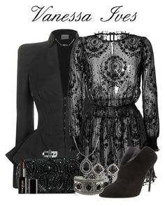 """Penny dreadful- Vanessa Ives"" by ravenclawchick852 on Polyvore featuring RED Valentino, Giuseppe Zanotti, Marchesa, Konstantino, Topshop, 2028 and Gorgeous Cosmetics"