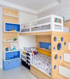 Cool Bedrooms For Boys, Beds For Small Rooms, Awesome Bedrooms, Kids Bedroom, Bunk Beds Boys, Cool Bunk Beds, Kid Beds, Home Room Design, Bed Design