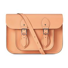 The Cambridge Satchel Company Women's 11 Inch Classic Satchel - Peony... (£125) ❤ liked on Polyvore featuring bags, handbags, the cambridge satchel company satchel, peach handbags, red satchel handbag, red satchel purse and satchel style purse