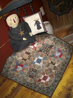 miniature quilt // arrondi des blocs  j'aime beaucoup !!!