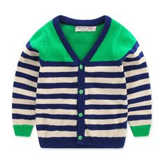 489887bcb Boy Striped Knit Cardigan Jacket 2017 Autumn Spring New Children's Clothing  Baby Girl Children Sweater