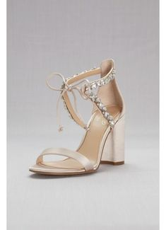 1c4a76497bdf Crystal-Embellished Ankle-Tie Block Heel Sandals JWTHAMAR Wedding Shoes  Heels