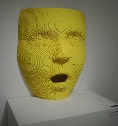 Impressive Artworks from Lego Bricks yellow face Lego Van, Lego Structures, Lego Sculptures, Lego Builder, Lego For Kids, Lego Worlds, Cool Lego Creations, Lego Instructions, Lego Brick