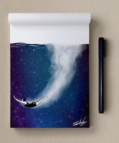 by Muhammed_Salah #galaxypaintingdiy Galaxy Painting, Galaxy Art, Caricature Artist, Drawing Techniques, Oeuvre D'art, Cool Drawings, Painting Inspiration, Amazing Art, Awesome