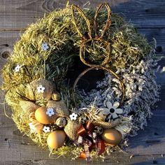 Velikonoční  věnec -  Velký s proutěným zajícem