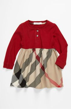 Burberry Knit & Woven Dress (Toddler) available at #Nordstrom