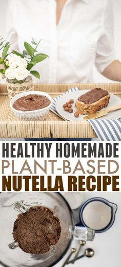 Healthy Homemade Nutella Recipe | The Creek Line House Fun Desserts, Delicious Desserts, Yummy Food, Tasty, Homemade Nutella Recipes, Baking Cupboard, Bad Sugar, Healthy Fudge, Food Staples