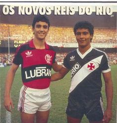 Bebeto com Romário - Revista Placar