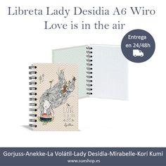 """Te presentamos la libreta Lady Desidia A6 cuadriculada de la colección """"Love is in the air"""" con espiral """"Wiro"""" y tapa dura.    @sueshop_es  #libretamujer #LadyDesidia"""