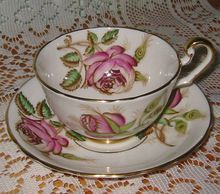 Victoria - Fabulous Roses on  White - Teacup Set