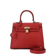 House Of Hello Women's Genuine Leather KL Style Ostrich Grain Top-handle-bags Red 25CM House Of Hello http://www.amazon.com/dp/B00RLEABCK/ref=cm_sw_r_pi_dp_9VCPwb12EB9S1