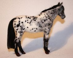 Needle felting horse Fjord pony one of a por MinzooNeedleFelting