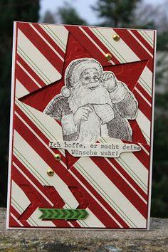 Polly kreativ: SchaUfensterchallenge # 1 - Weihnachtskarte mit SU Wunschzettel