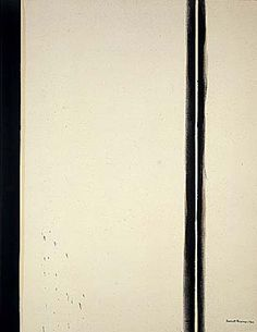 Barnett Newman - 4. Fourth Station, 1960, from the Stations of the Cross series. oil on canvas,198.1 x 153 cm, National Gallery of Art, Washington D.C