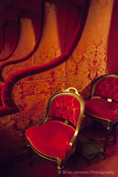 Red velvet box seating - Opera House, Paris France © Brian Jannsen Photography