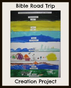 Teach Your Kids About the Days of Creation through Art! ~ Bible Road Trip Creation Project ~ Free Bible Curriculum | ThinkingKidsBlog.org