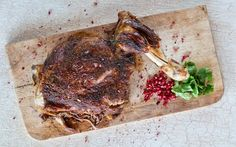 STEVIE PARLE - LAMB SHOULDER ROASTED WITH SPICES AND POMEGRANATE.