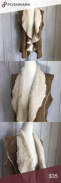 Fantazia Chestnut Faux Shearling Boho Vest Small Never worn just been in my closet for so long Looks kind of weird on my mannequin but it fits so cute! ASOS Jackets & Coats Vests
