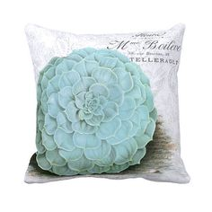 Awesome Succulent Décor Pillow Cover    >>>100% cotton front    >>>burlap envelope style in back    >>>cotton back available if preferred    >>>18,
