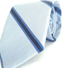 Peter Millar Mens Designer Tie NWOT Silk Blue Diagonal Striped Textured Luxury #PeterMillar #Tie