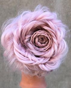 Braided Rose Hairstyle