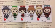 Magnetic Bookmarks  The Epic Journey by HappyHelloCo on Etsy