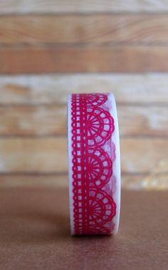 Pink Lace Washi Tape
