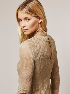 Elyse Taylor || FP Monaco Oh-So Stretchy Lace Femme Top (Warm Stone)