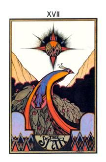 XVII The Star, The Aquarian Tarot Deck, Artist: David Palladini, Published by Morgan press 1970 Norman Rockwell, La Danse Macabre, Star Tarot, Art Carte, Tarot Major Arcana, Psy Art, Oracle Cards, Tarot Decks, Tarot Cards