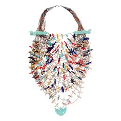 1980s Vintage Tony Luala 22 Strand Zuni Fetish Necklace   From a unique collection of vintage multi-strand necklaces at https://www.1stdibs.com/jewelry/necklaces/multi-strand-necklaces/