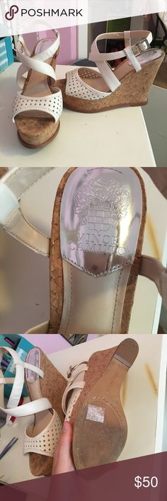 Vince Camuto Wedges Brand new, never been worn! Vince Camuto Shoes Wedges