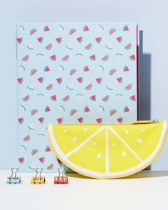 Get organised with this cute lemon pencil case and fruit folder