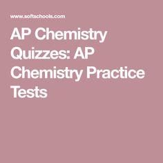AP Chemistry Quizzes: AP Chemistry Practice Tests Ap Chemistry, Chemistry Lessons, College Board, High School Science, Junior Year, Educational Videos, Quizzes, Homeschool, Math
