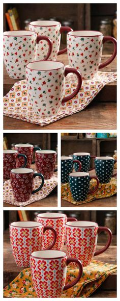26 Ounce Pioneer Woman Coffee Cups are perfect for coffee, tea or any hot beverage. So pretty and yet so useful. What is your favorite color?